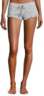 Skin Essentials Ruffled Knit Shorts, Light Gray