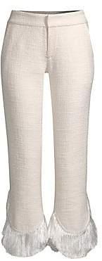 Alexis Women's Tatum Crop Flare Fringe Pants