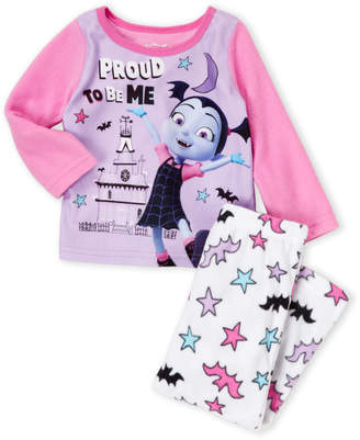Disney Toddler Girls) Two-Piece Vampirina Fleece Pajama Set
