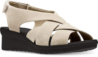 Clarks Collection Women's Cloudsteppers Caddell Jena Wedge Sandals Women's Shoes