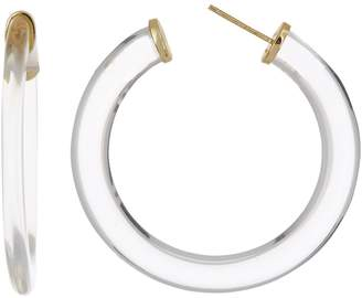 Argentovivo 18K Gold Plated Sterling Silver Lucite 45mm Hoop Earrings
