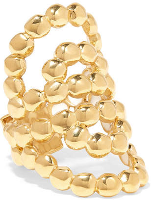 Chloé Valeria Lacquered Gold-tone Ring