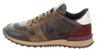 Valentino Camo Leather Sneakers