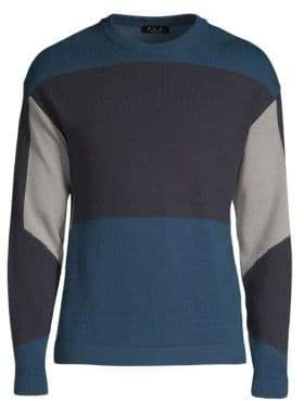 P.L.C. Wool-Blend Color Block Pullover