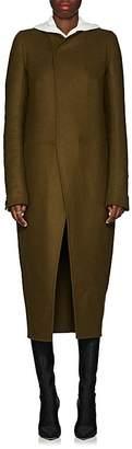 Rick Owens Women's Tusk Wool-Blend Collarless Coat
