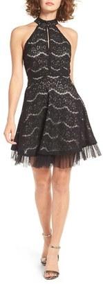 Women's Love, Fire Lace Fit & Flare Dress $49 thestylecure.com
