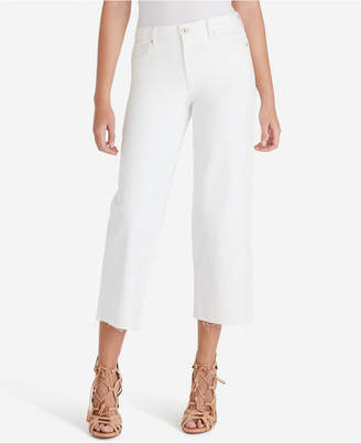 Jessica Simpson Juniors' Adored High-Rise Wide-Leg Crop Jeans