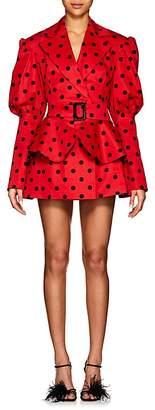 Marianna Senchina Women's Polka Dot Cotton Belted Minidress