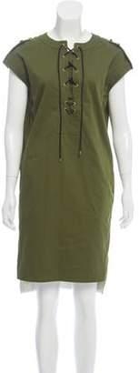 Derek Lam Lace-Up Sleeveless Mini Dress w/ Tags Green Lace-Up Sleeveless Mini Dress w/ Tags