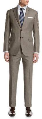 Brioni Micro-Check Wool Two-Piece Suit, Tan