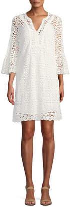 Kate Spade Crochet Lace Dress W/ Bell Sleeves