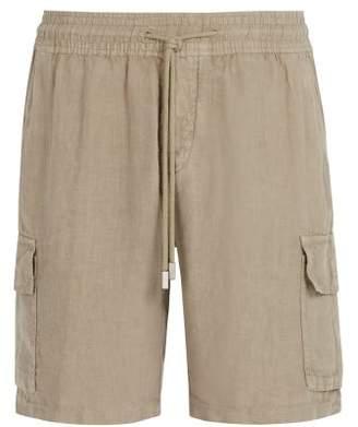 Vilebrequin Solid Cargo Linen Bermuda Shorts - Mens - Grey