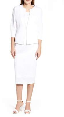 Ming Wang Lace Jacquard Jacket