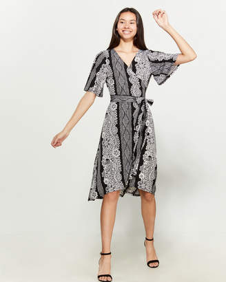 Laundry by Shelli Segal Printed Kimono Wrap Dress