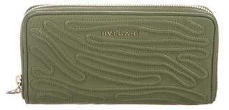 Bvlgari Textured Zip Wallet