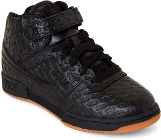 Fila Kids Boys) Black F-13 Small Logos High-Top Sneakers