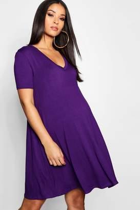 boohoo Maternity V Neck Smock Dress
