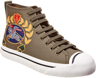 Burberry Kingly Archive Logo Canvas High-Top Sneaker