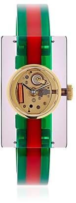 Gucci Vintage Web Plexiglass Watch