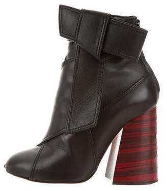 Ellery Leather Bow Boots