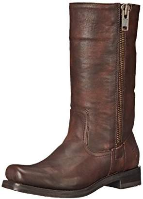 Frye Women's Heath Outside Zip Combat Boot