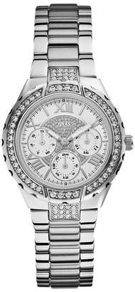 GUESS Ladies Silver Bracelet Watch With Crystal Detailing W0111l1