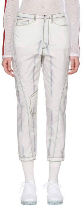 Kanghyuk White and Yellow Readymade Airbag Engineer Trousers