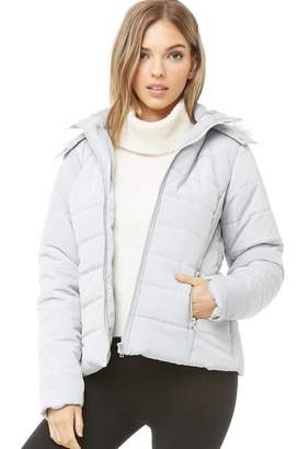 Forever 21 Faux Fur-Trim Puffer Jacket
