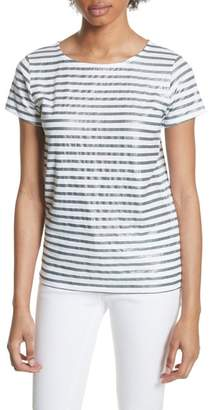 Majestic Metallic Stripe Top