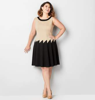 Avenue Zig Zag Ponte Fit and Flare Dress