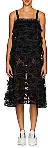 Comme des Garcons Women's Floral-Flocked Organza Dress-Black