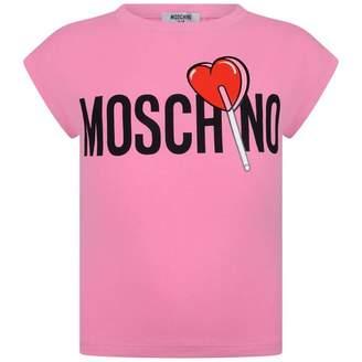 Moschino MoschinoGirls Pink Lollipop Logo Top