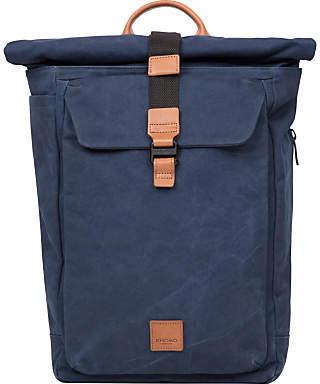 "Knomo Novello 15"" Roll-Top Laptop Backpack, Blue"