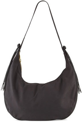 Elizabeth and James Zoe Large Nylon Hobo Bag, Black $425 thestylecure.com