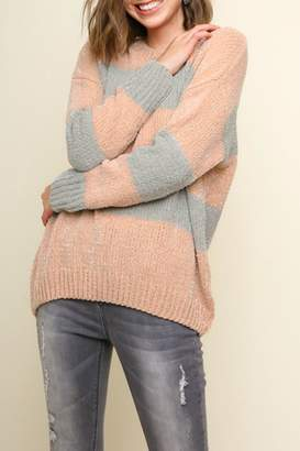 Umgee USA Striped Lurex Sweater