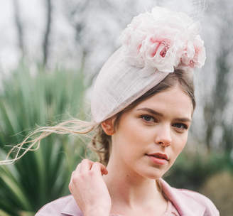 cdc316073dbf0 Holly Young Millinery Nude Pink Floral Womens Occasion Hat Hat ' Bleujen'
