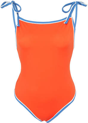 Solid & Striped Poppy Tie-Detailed Swimsuit