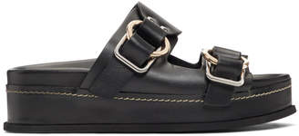 3.1 Phillip Lim Black Freida Double Buckle Platform Sandals