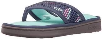 Dearfoams Women's Active Mesh Thong Slip on Slipper