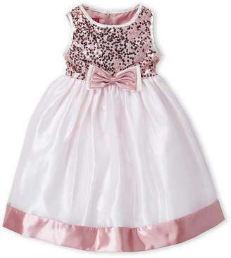Princess Faith (Girls 4-6x) Sequin Bow Organza Dress