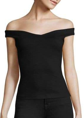 L'Agence Solange Off-the-Shoulder Solid Top