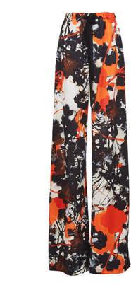 Naeem Khan Printed Drawstring Pant