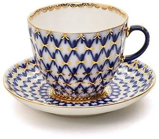 Imperial Porcelain Two-Piece Porcelain Coffee Cup and Saucer Set