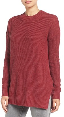 Women's Bp. Ribbed Mock Neck Pullover $39 thestylecure.com