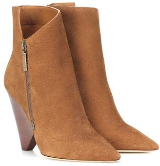 Saint Laurent Niki 105 suede ankle boots