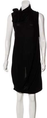 Balenciaga Silk Draped Dress