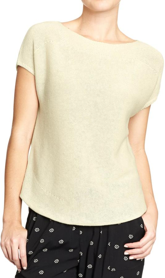 Old Navy Women's Boat-Neck Linen-Blend Sweaters