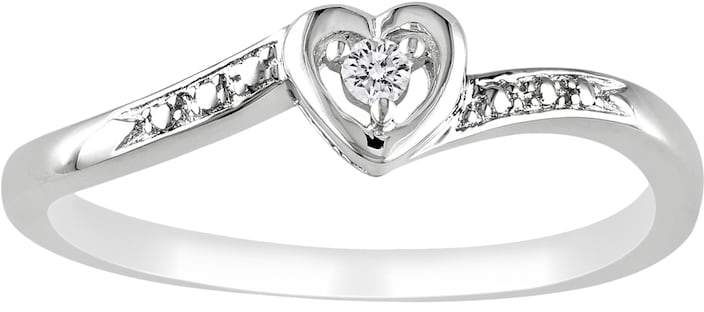Kohl's Sterling Silver Diamond Accent Heart Ring