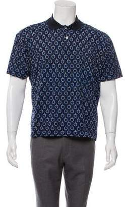 Gucci Vintage Printed Short Sleeve Polo
