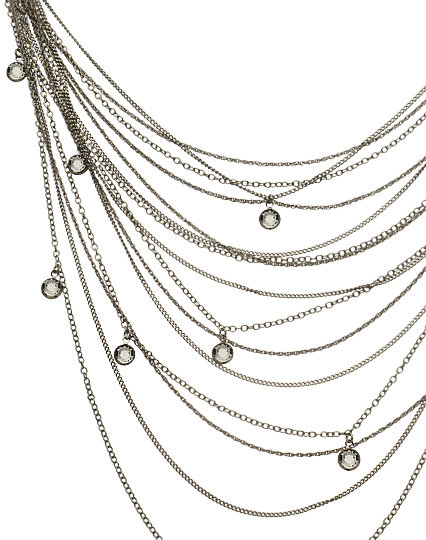 ABS Long Multi Strand Necklace